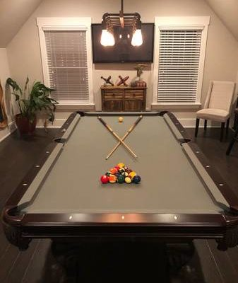 Pool Table Gray 8'