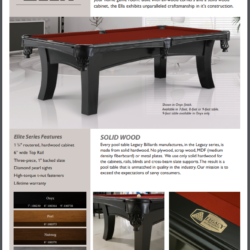 Legacy 8' Ella Pool Table and Accessories