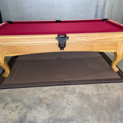 """Solid Maple with Natural Oak Stain 88""""x44"""" Olympian Billiards Classic Series Pool Table"""